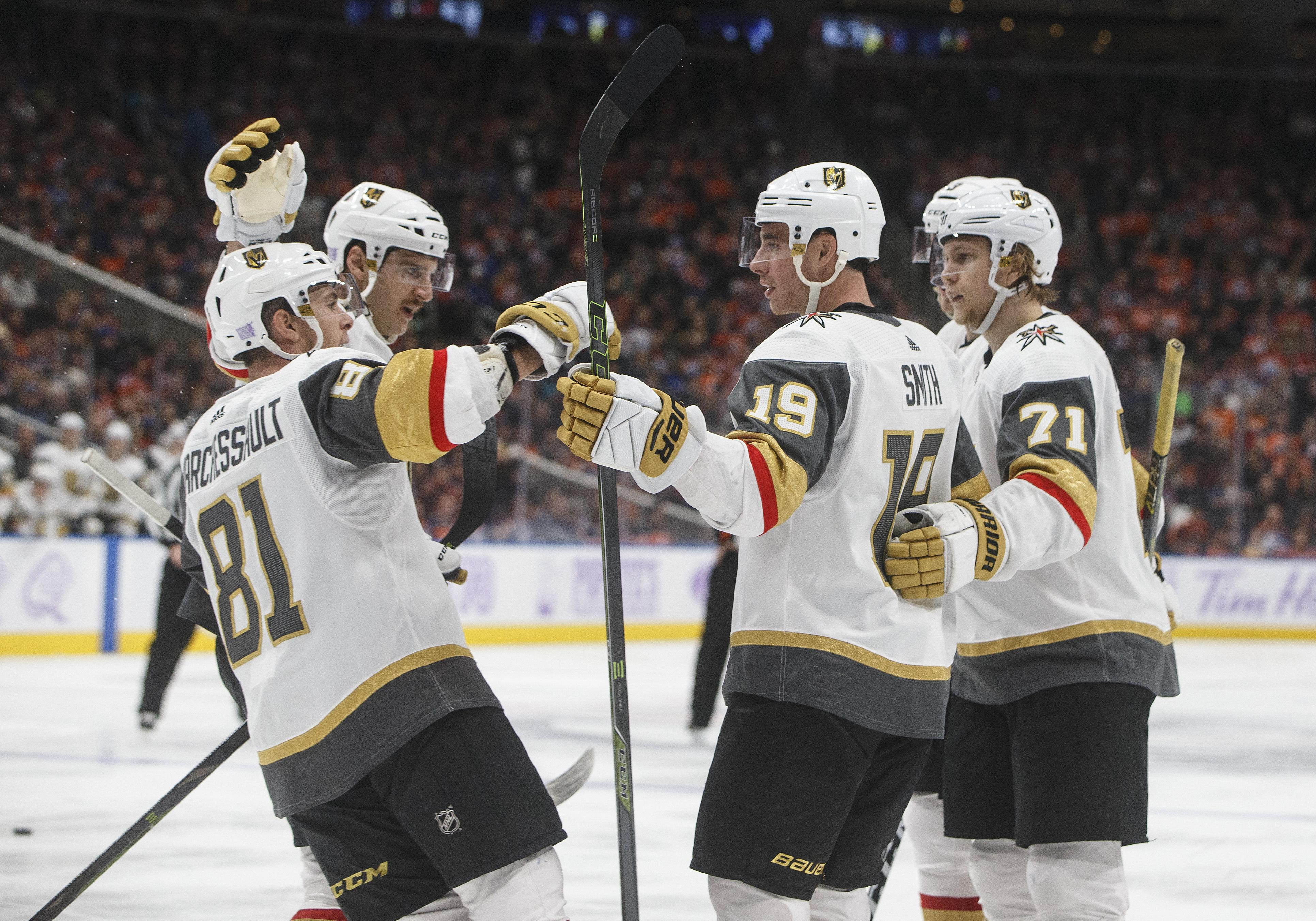 hot sale online 3d609 faa08 Vegas Golden Knights Look to Match Magical First Season in 2019