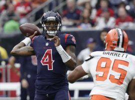 Houston quarterback DeShaun Watson has led the Texans to nine straight victories. (Image: AP)