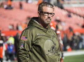 Gregg Williams, ex-head coach of the Cleveland Browns, during warmups of a game in Cleveland. (Image: Ken Blaze/USA Today Sports)