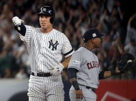Aaron Judge from the New York Yankees safe at second base during the 2017 ACLS against the Cleveland Indians in Yankee Stadium in the Bronx. (Image: Abbie Parr/Getty)
