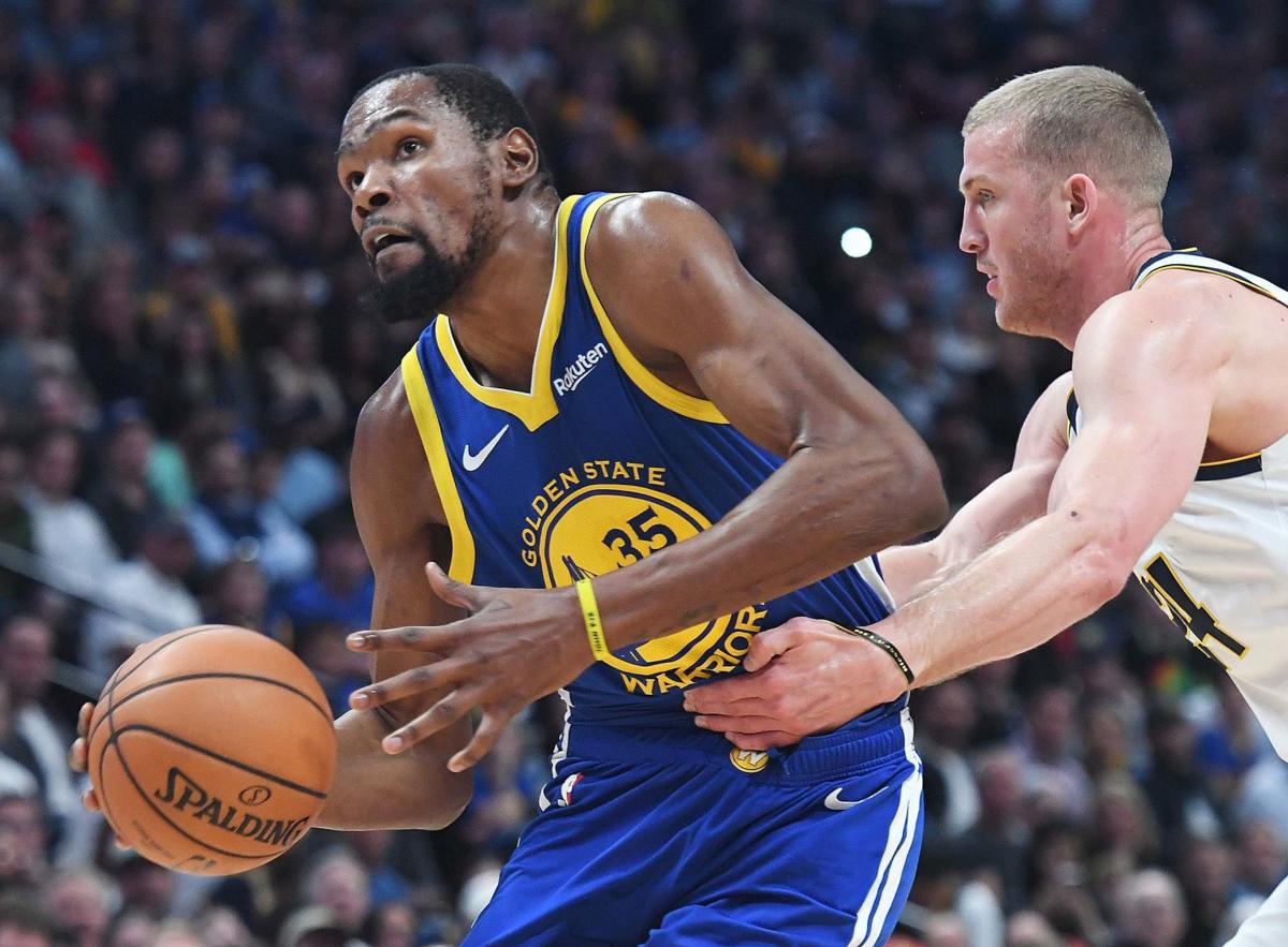Warriors ride record first quarter to rout of Nuggets