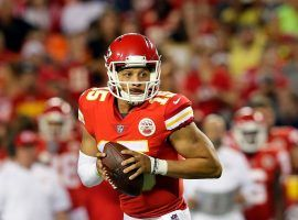 Kansas City Chiefs quarterback Patrick Mahomes drops back to pass during his rookie season in 2017 at Arrowhead Stadium. (Image: Jamie Squire/Getty)