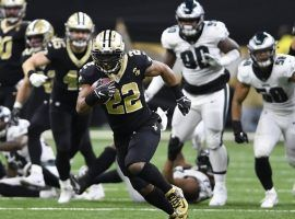New Orleans Saints running back Mark Ingram runs against the Philadelphia Eagles in the second half of an NFL divisional playoff football game (Image: AP)