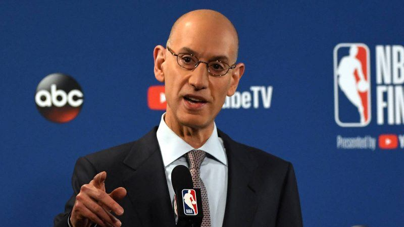 Some NFL owners may have approached Adam Silver about becoming league commissioner, but he says he is happy to be running the NBA. (Image: Kyle Terada/USA Today Sports)