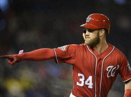 Bryce Harper met with the San Diego Padres in Las Vegas on Thursday night. (Image: Nick Wass/AP)