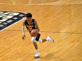 Murray State point guard Ja Morant playing in the 2018 March Madness tournament. (Image: Jake Roth/USA Today Sports )