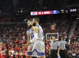 Nevada Wolfpack forwards Caleb Martin (10) and Cody Martin (11) during a game against UNLV at Thomas and Mack Arena in Las Vegas. (Image: AP)