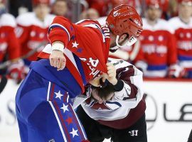 Washington Capitals Tom Wilson and Ian Cole from the Colorado Avalanche tussle in a fight in Capital One Arena in Washington DC. (Image: Geoff Burke/USA Today Sports)