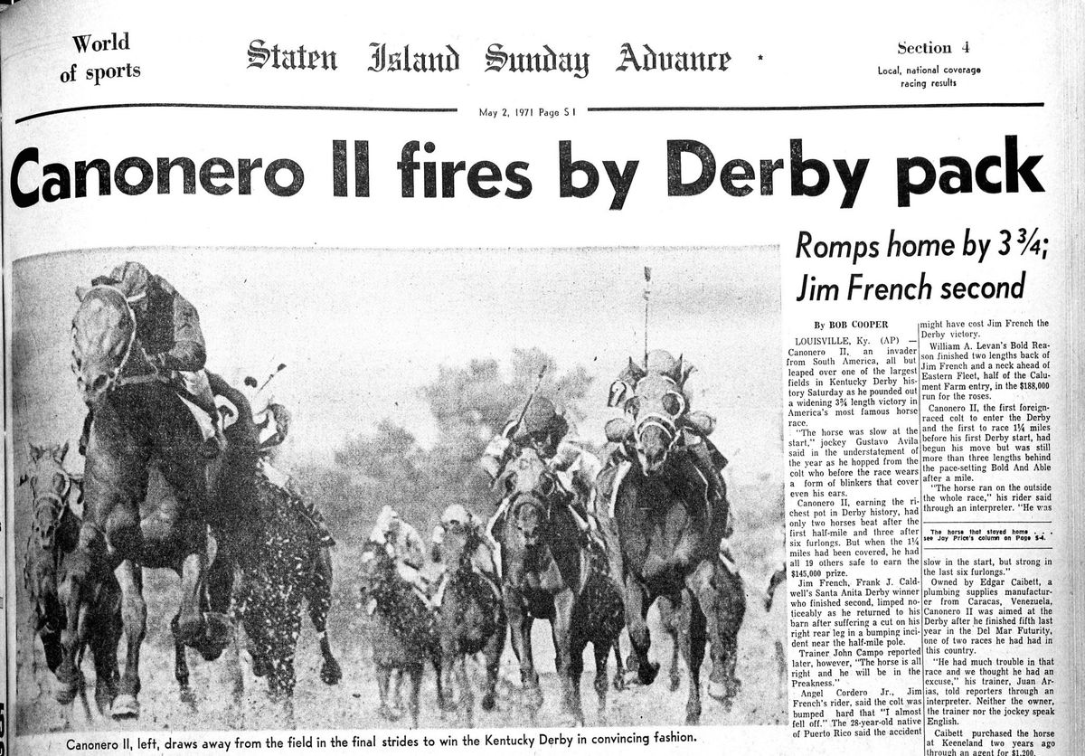 Canonero II, one of the greatest foreign horses in Kentucky Derby history