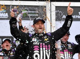 Jimmie Johnson was winless last year, but won the 2019 Advance Auto Parts Clash on Sunday. (Image: USA Today Sports)