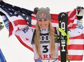 American skier Lindsay Vonn at the World Championships in Are, Sweden. (Image: Getty)