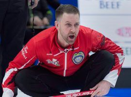 Team Canada, led by Brad Gushue, is looking to claim its third straight Brier title. (Image: Andrew Vaughan/CP)