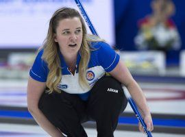 Chelsea Carey will lead Canada at the 2019 World Women's Curling Championship in Denmark beginning on Saturday. (Image: Andrew Vaughan/Canadian Press)