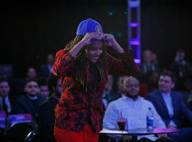 Chiquita Evans made history on Tuesday when she became the first woman to be drafted to an NBA 2K League team. (Image: Slam)