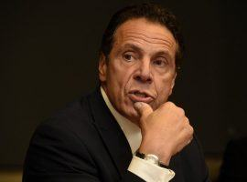 New York Governor Andrew Cuomo says he is opposed to legalizing mobile sports betting in his state. (Image: Dennis Nett)