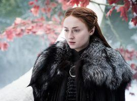 Sansa Stark, the current Lady of Winterfell, is one of the favorites to be sitting on the Iron Throne at the end of the final season of Game of Thrones. (Image: HBO)