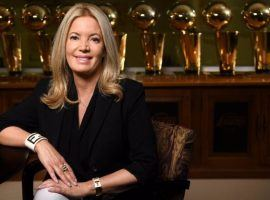Los Angeles Lakers owner Jeanie Buss in her office at the Lakers complex in El Segundo, California. (Image: Wally Skalij/LA Times)