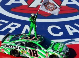 Kyle Busch won at Auto Club Speedway on Sunday to earn his record-tying 200th career NASCAR win. (Image: Robert Laberge/Getty)