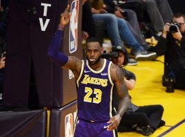 LeBron James of the LA Lakers scores a basket against the Denver Nuggets and passes Michael Jordan on the NBA's scoring list during a game at Staples Center in Los Angeles, California. (Image: Robert Laberge/Getty)