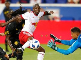 Led by Bradley Wright-Phillips, the New York Red Bulls are among the favorites to win the MLS Cup in 2019 according to sportsbooks. (Image: Noah K. Murray/New York Post)