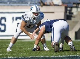 Columbia's All-American long snapper Patrick Eby playing against Yale in Wein Stadium in Manhattan, New York. (Image: Mike McLaughlin/Columbia Athletics)