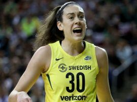 Seattle Storm superstar Breanna Stewart ruptured her Achilles while playing in a EuroLeague game. (Image: Getty)