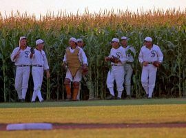 "The Chicago Blacksox appear in Ray Kinsella's cornfield in ""Field of Dreams"". (Image: Universal Pictures)"