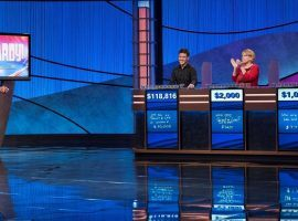 James Holzhauer won his 14th straight match on Jeopardy! to pass $1 million in earnings. (Image: Sony Pictures Television)