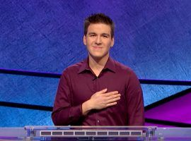 James Holzhauer won his seventh-consecutive Jeopardy! match. (Image: Sony )