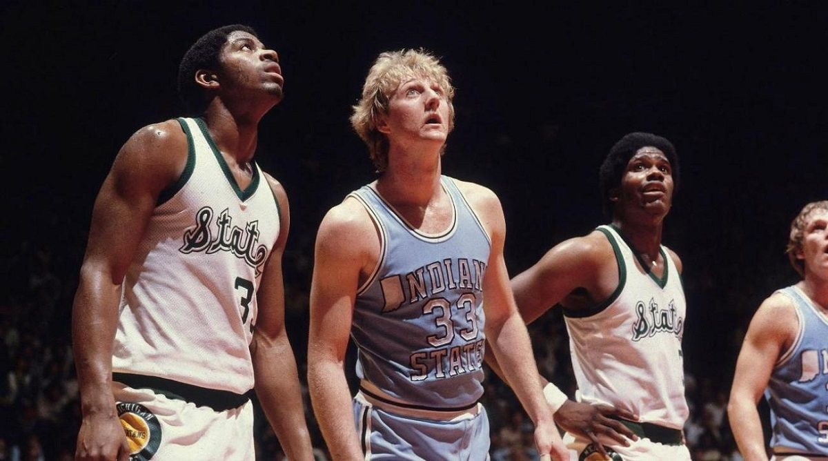 Larry Bird Magic Johnson 1979 Final Four