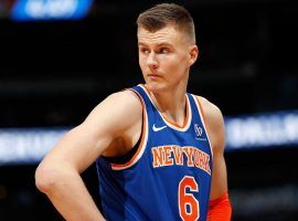Kristaps Porzingis is facing allegations that he raped a neighbor while playing for the New York Knicks last season. (Image: David Zalubowski/AP)