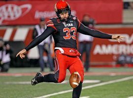 Aussie-born punter, Mitch Wishnowsky from the Utah Utes, won the Ray Guy Award for the nation's best punter in 2016. (Image: Steve C. Wilson/Utah Athletics)