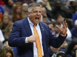 Bruce Pearl coaching Auburn during the Elite Eight game against Purdue in Kansas City, MO. (Image: Jamie Squire/Getty)