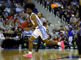 North Carolina point guard Coby White in a March Madness game against Washington in Columbus, Ohio. (Image: Greg Shamus/Getty)