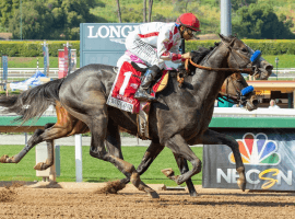 Roadster motors by stablemate Game Winner in $1 million Santa Anita Derby.
