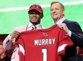 No. 1 overall pick Kyler Murray poses with NFL Commissioner Roger Goodell after being selected Thursday night in the draft. (Image: Getty)