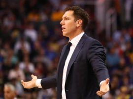 Luke Walton was fired as the coach of the Los Angeles Lakers, just two days after Magic Johnson left his position as president of basketball operations. (Image: Getty)