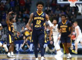 Ja Morant of Murray State playing against Marquette in the 2019 March Madness tournament. (Image: Getty)