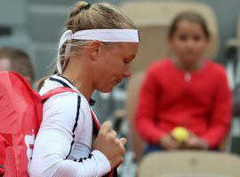Kiki Bertens retired from her second round match at the French Open due to illness. (Image: RTE)