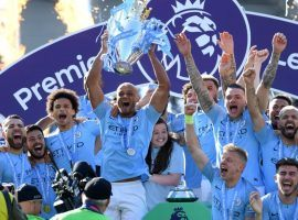 Manchester City overcame a 1-0 deficit to beat Brighton and claim the Premier League title for the second straight year. (Image: Getty)