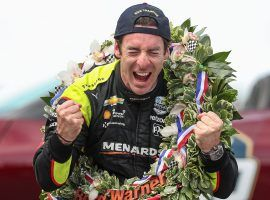 Simon Pagenaud edged Alexander Rossi to win the 2019 Indianapolis 500 by just over .2 seconds. (Image: Jenna Watson/Indianapolis Star)