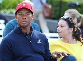 Tiger Woods and his girlfriend, restaurant manager Erica Herman, are being sued over the wrongful death of an employee at The Woods restaurant. (Image: Scott Barbour/Getty)