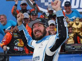 Martin Truex Jr. came from the back of the field to post a dominant victory at Dover International Speedway on Monday. (Image: Matt Sullivan/Getty)