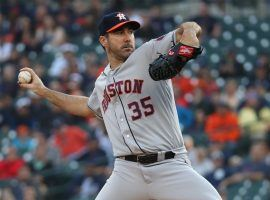 Justin Verlander of the Houston Astros pitching against the Baltimore Orioles at Camden Yards. (Image: Gregory Shamus/Getty)