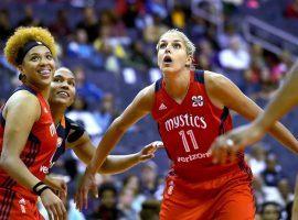 The Washington Mystics enter the 2019 season as favorites to win the WNBA Championship behind the play of former league MVP Elena Delle Donne (11). (Image: Katherine Frey/Washington Post)
