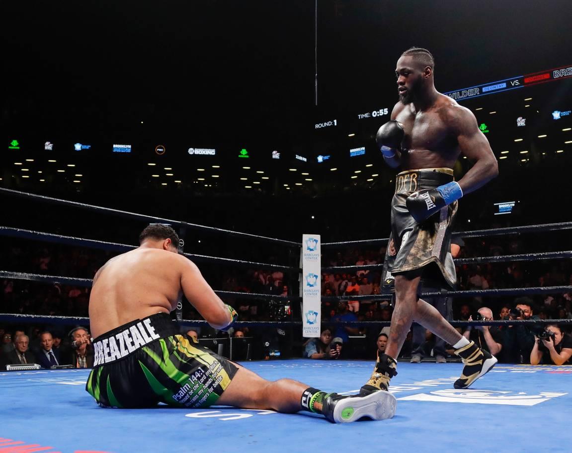 Deontay Wilder Breazeale knockout