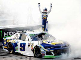 Chase Elliott won the last race at Dover International Speedway, and also won the pole for Sunday's race. (Image: Garry Eller/HHP for Chevy Racing)