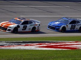 Chevy teammates Chase Elliott and Alex Bowman finished first and second at Talladega last Sunday. (Image: AP)