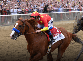 History always remembers the Belmont Stakes winner -- in 2018 Justify completes the Triple Crown (Image:NYRA)