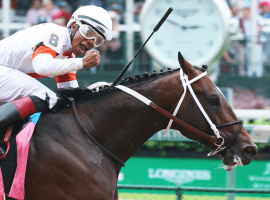 To Met Mile contender Mitole blitzes  the field to win Churchill Downs Handicap on Derby Day in Louisville. (Image: Churchill Downs)